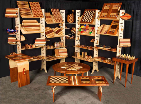 David Levy from Hardwood Creations Booth