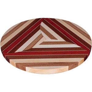 Laminated Wood Puzzle Trivets Circle