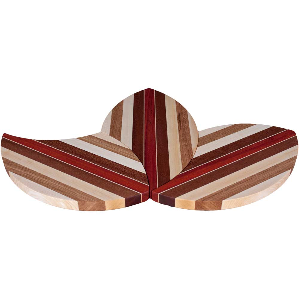 Laminated Wood Puzzle Trivets Flower
