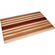 Large Striped Laminated Wood Cutting Board