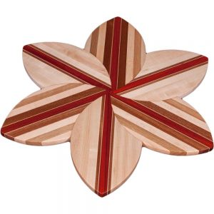 Maple Laminated Wood Flower Lazy Susan