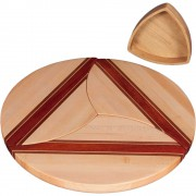 Maple Wood Puzzle Trivets Circle with Bowl