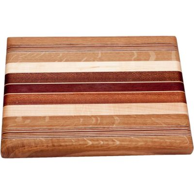 Small Striped Laminated Wood Cutting Board