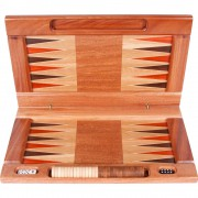 Wood Backgammon Board and Pieces