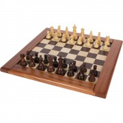 Wood Chess Board and Pieces