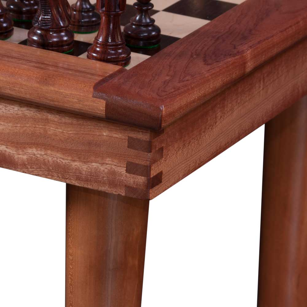 Woodworking Finger Joint on Chess Table