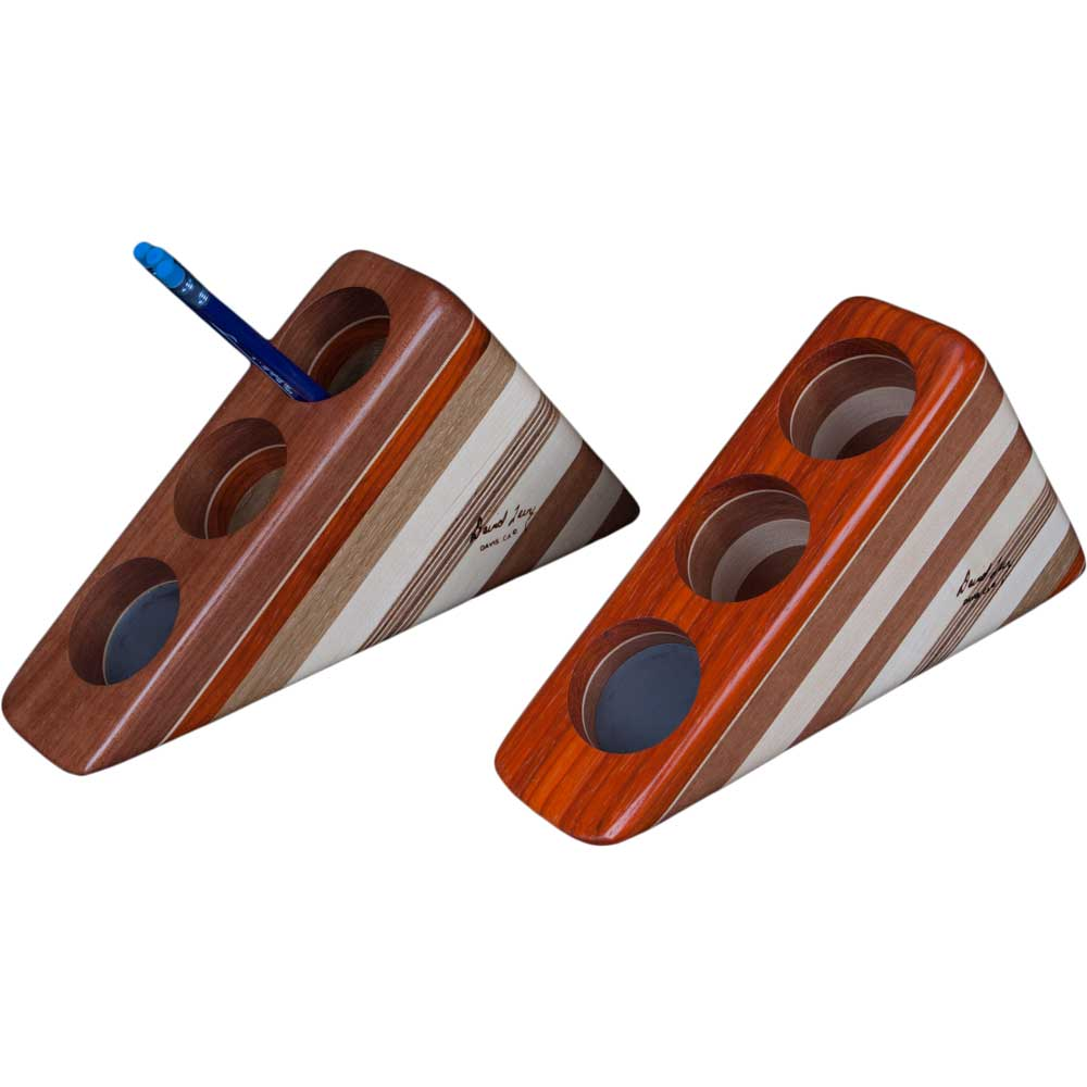 Laminated Wood Pen and Pencil Holder