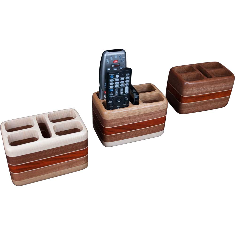 Laminated Wood Remote Holders