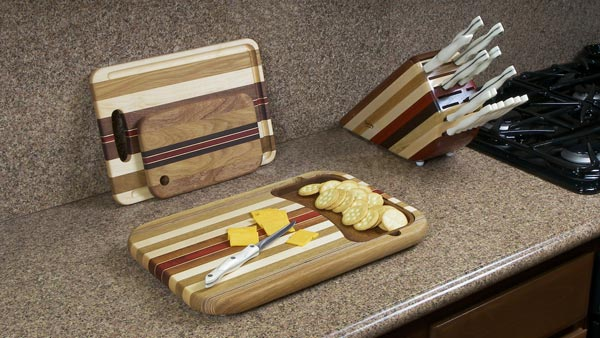 Wood Removable Tray Cutting Board