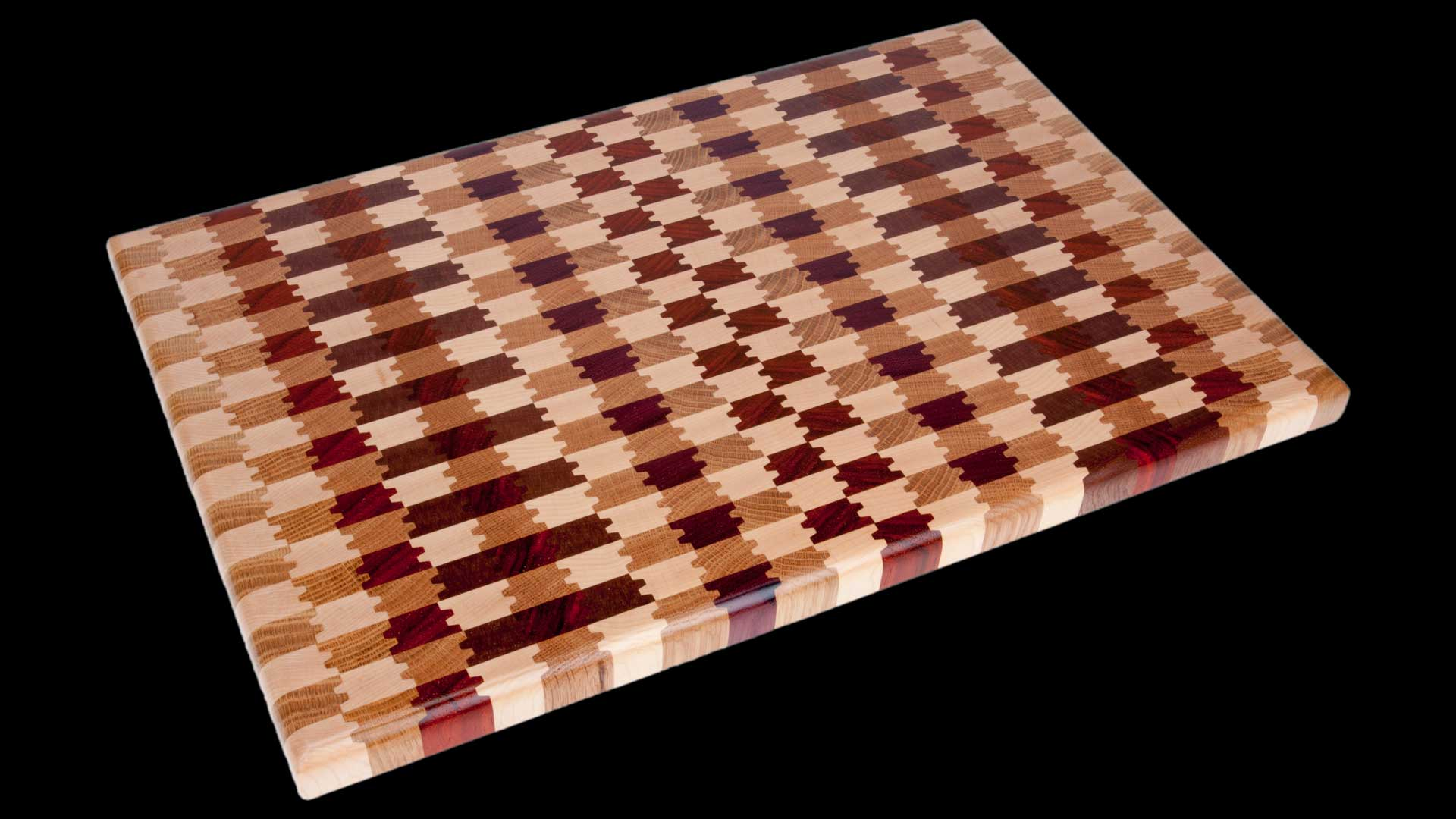 End Grain Wood Cutting Board Parallax