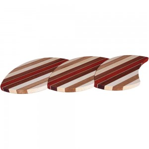 Laminated Wood Puzzle Trivets Straight