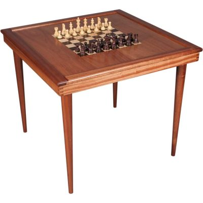 Large Wood Chess Table