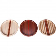 Maple Sapele Laminated Wood Puzzle Trivet Lazy Susan