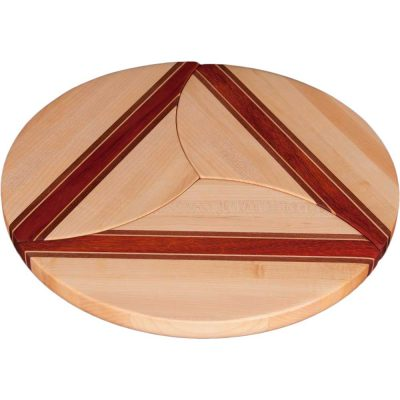 Maple Wood Puzzle Trivets Circle