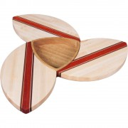 Maple Wood Puzzle Trivets Flower with Bowl