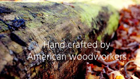 Hand crafted by American woodworkers