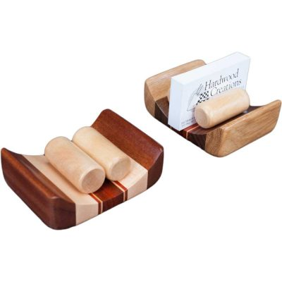 Solid Wood Business Card Holder