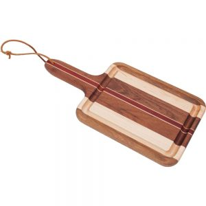 Laminated Wood Cheese Board with Handle
