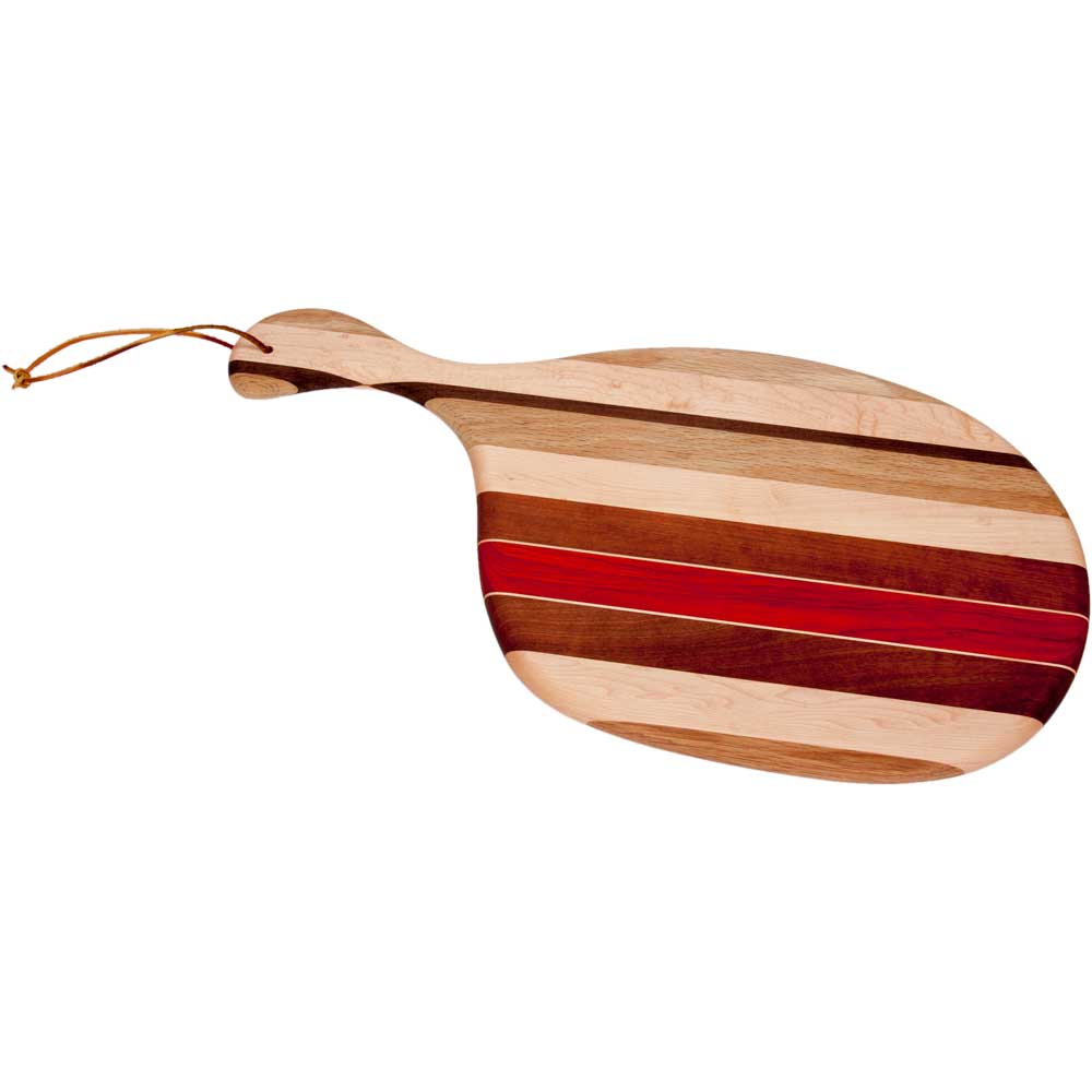 Laminated wood cutting board with handle ode to