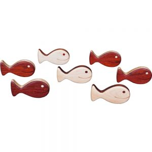 Wood Toy Fish Rattle