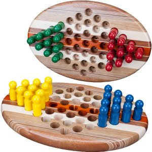 Wood Two Person Chinese Checkers