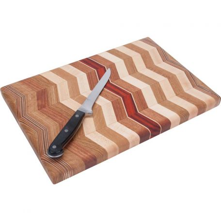 Zig Zag Laminated Wood Cutting Board