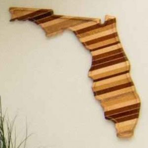 Florida State Wood Cutting Board